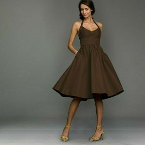 J. Crew Cotton Cady Lydia Dress - Chocolate